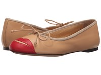 Charlotte Olympia Kiss Me Darcy Nude Red Calfskin