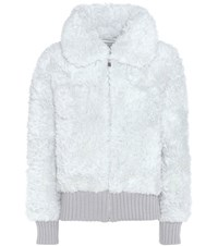 Vika Gazinskaya Alpaca And Mohair Jacket Grey