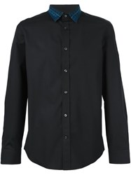 Diesel Denim Collar Shirt Black