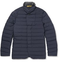Canali Quilted Shell Jacket Navy