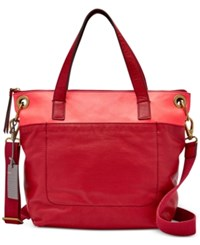 Fossil Keely Tote Red Multi