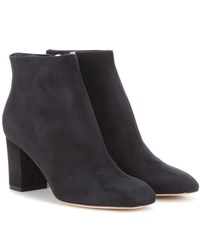 Loro Piana Liza Suede Ankle Boots Black