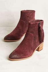 Anthropologie Miss Albright Amarie Tassel Booties Wine