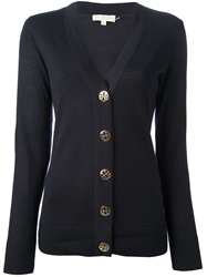 Tory Burch V Neck Cardigan Blue