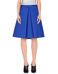 10 Crosby Derek Lam Knee Length Skirts Bright Blue