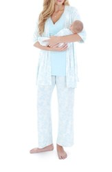 Women's Everly Grey 'Roxanne During And After' 4 Piece Maternity Sleepwear Set Chantilly
