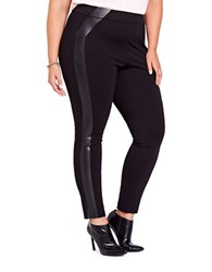 Addition Elle Michel Studio Solid Pleather Leggings Black