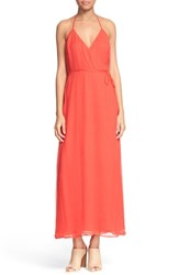 Women's Frame 'Le Maxi' Silk Chiffon Halter Wrap Dress