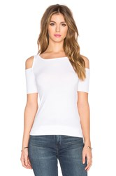 Bailey 44 Short Sleeve Deneuve Top White