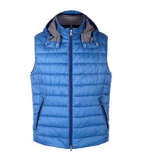 Bogner Quilted Hooded Gilet Male Blue