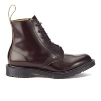 Dr. Martens Men's 'Made In England' Arthur Leather 6 Eye Boots Merlot Boanil Brush Red