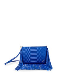 Brian Atwood Landon Leather Crossbody Blue