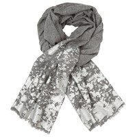 John Lewis Metallic Paint Splash Wool Scarf Grey Silver
