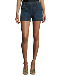 Frame Denim Antibes Mid Rise Side Button Denim Shorts Avalon Women's Size 29