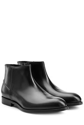 Kenzo Leather Chelsea Boots Black