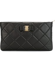 Salvatore Ferragamo Quilted Clutch Black