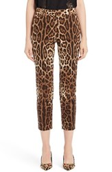 Dolce And Gabbana Women's Leopard Print Ankle Pants