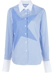Tome 'Satin' Striped Star Shirt Blue