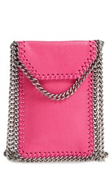 Stella Mccartney 'Falabella' Faux Leather Crossbody Phone Pouch Pink Hot Pink
