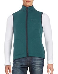 Brooks Brothers Fleece Lined Knit Vest Green