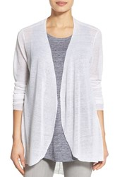 Eileen Fisher Women's Hemp Blend Curved Hem Cardigan White