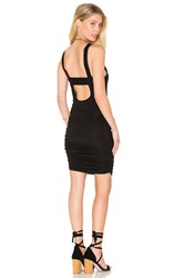 Krisa Ruched Mini Dress Black