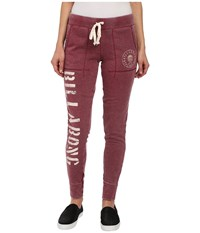 Billabong Sundream Pants Black Cherry Women's Casual Pants Burgundy
