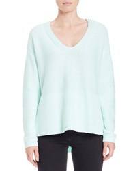 Lord And Taylor Oversized V Neck Pullover Moonlight Jade