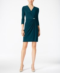Charter Club Petite Crossover Wrap Dress Only At Macy's Cerulean Night