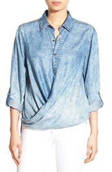 Blank Nyc Women's Blanknyc 'Glamper' Wrap Front Shirt