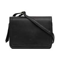 French Connection Stab Stitch Blair Satchel Black