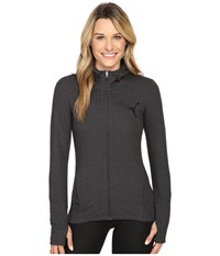 Puma Elevated Full Zip Hoodie Dark Gray Heather Women's Sweatshirt