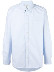 Visvim Sleeve Patch Button Down Shirt Blue