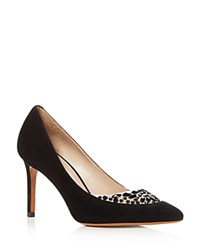 Tory Burch Delphine Embellished Pointed Toe High Heel Pumps Black