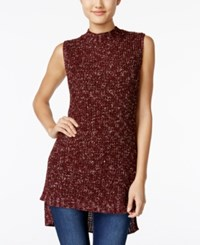 American Rag High Low Tunic Sweater Only At Macy's Zinfandel