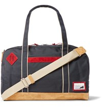 Master Piece Suede Trimmed Canvas Holdall Navy