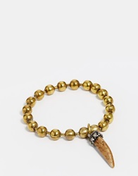 Sam Ubhi Ball Bracelet With Horn Tusk Gold