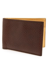 Magnanni 'Rugohan' Grainy Leather Bifold Wallet Brown