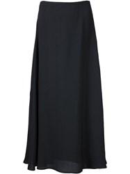 Rosetta Getty Flared Long Skirt Black
