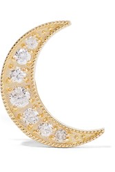 Andrea Fohrman Mini Crescent 18 Karat Gold Diamond Earring