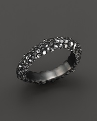Roberto Coin Ruthenium Plated Sterling Silver Stingray Wave Stackable Ring