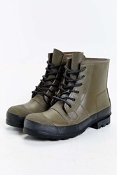 Hunter Original Rubber Lace Up Boot Olive