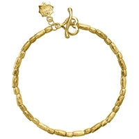 Dower And Hall Caraway 18Ct Gold Vermeil Rice Bracelet