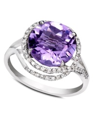 Effy Collection Gemma By Effy Amethyst 4 1 4 Ct. T.W. And Diamond 1 4 Ct. T.W. In 14K White Gold