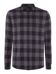 Label Lab Men's Byrant Herringbone Check Grey