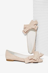 Nasty Gal Ruston Suede Flat Blush