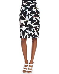 Kate Spade Butterfly Print Midi Pencil Skirt