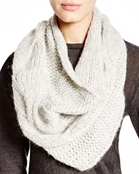 Eileen Fisher Cable Knit Infinity Scarf Pearl
