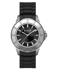 Versus By Versace Tokyo Rubber Strap Watch Sgm160015 Black
