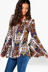 Boohoo Octovia Paisley Print Button Floral Shirt Multi